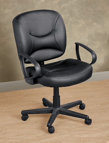 LivingXL® Vinyl Office Chair with Arms - from Living XL
