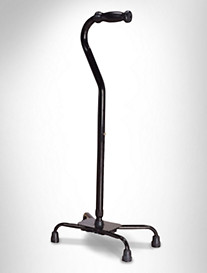 Essential Medical Quad Cane with Large Heavy-Duty Base