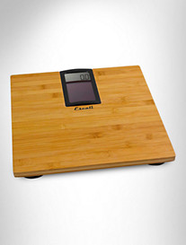 Escali® ECO180 Solar-Powered Bamboo Bath Scale