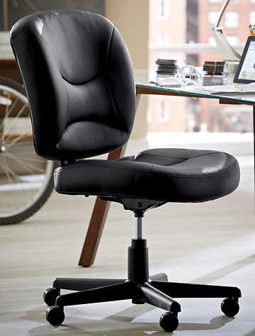 LivingXL® Vinyl Office Task Chair with Gas Lift - from Living XL