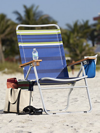 Extra-Wide Mesh Folding Beach Chair