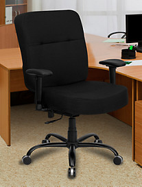 Hercules Extra-Wide Fabric Office Chair with Arms