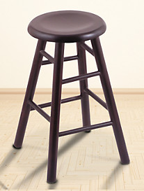 Holland Bar Stool Co. XL Maple Saddle Dish Swivel Stool – Dark Cherry Finish