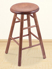 Holland Bar Stool Co. XL Maple Saddle Dish Swivel Stool – Medium Finish