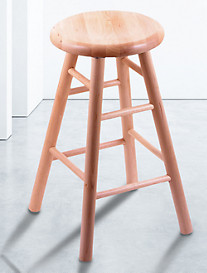 Holland Bar Stool Co. XL Maple Saddle Dish Swivel Stool – Natural Finish