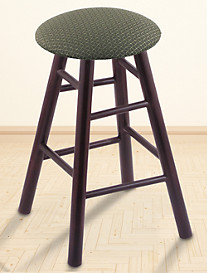 Holland Bar Stool Co. XL Maple Round Cushion Swivel Stool – Dark Cherry Finish