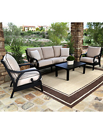 Sunset West® Monterey Sofa with Club Chairs & Coffee Table