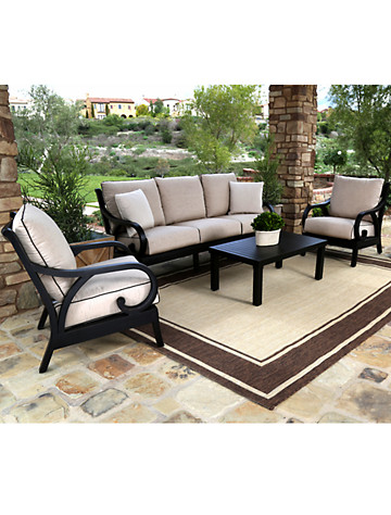 Sunset West® Monterey Sofa with Club Chairs & Coffee Table - $4999.95