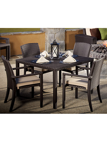 "Sunset West® Solana 44""-Square Dining Table & 4 Chairs - $2499.95"