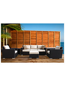 Sunset West® Solana Sofa with Club Chairs, End Table & Ottoman