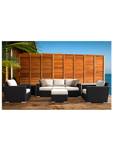 Sunset West® Solana Sofa with Club Chairs, End Table & Ottoman - $3999.95