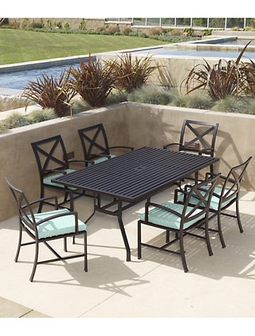 "Sunset West® La Jolla 72"" Rectangular Dining Table & 6 Chairs - $3299.95"