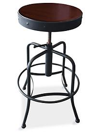 Holland Bar Stool Co. Height-Adjustable Industrial Stool