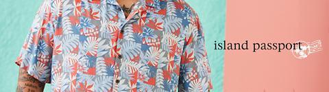 Island Passport by DXL Big and Tall Linen-Blend Drawstring Shorts