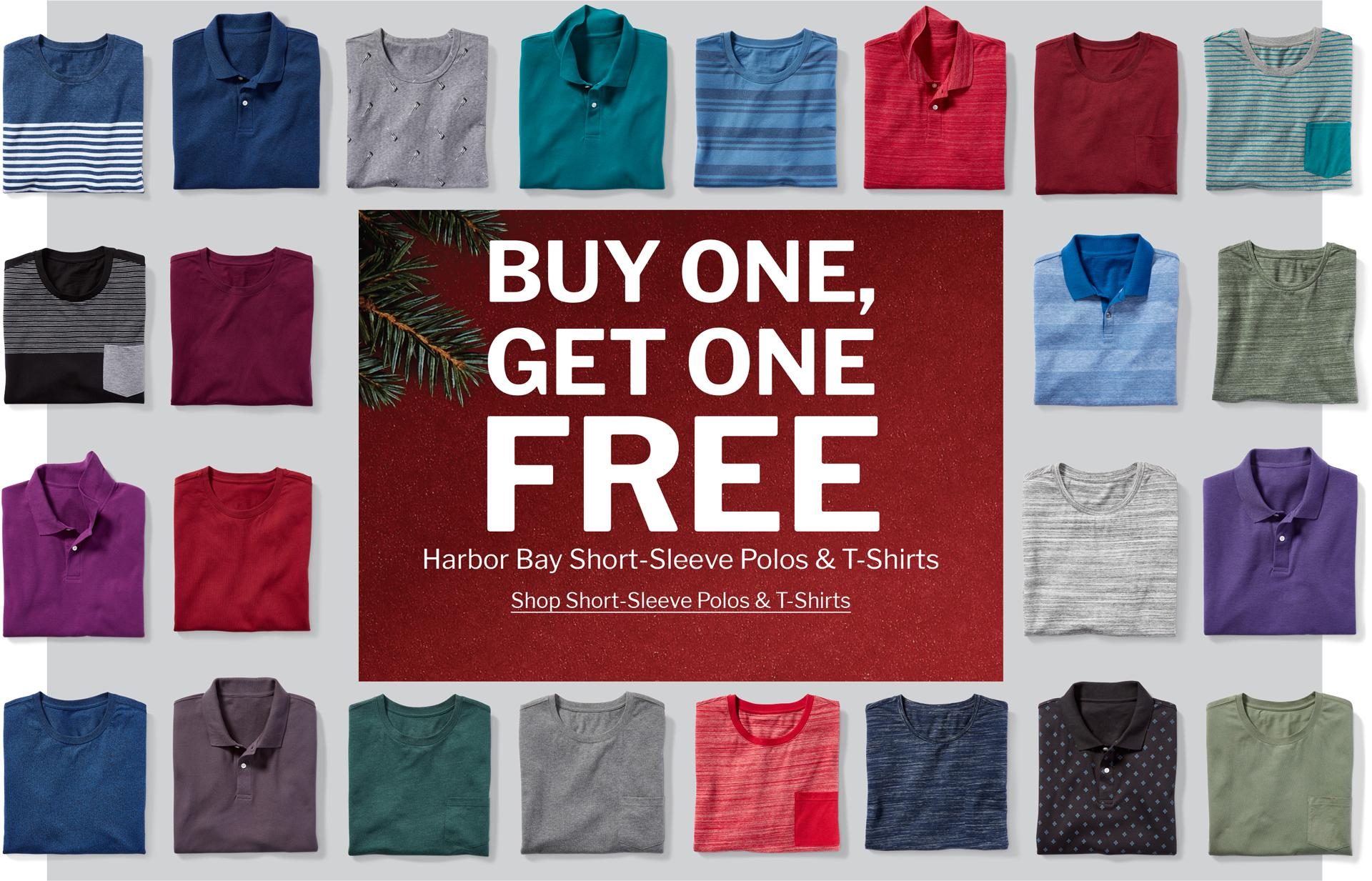 BUY ONE, GET ONE FREE | HARBOR BAY SHORT-SLEEVE POLOS & T-SHIRTS | SHOP SHORT-SLEEVE POLOS & T-SHIRTS
