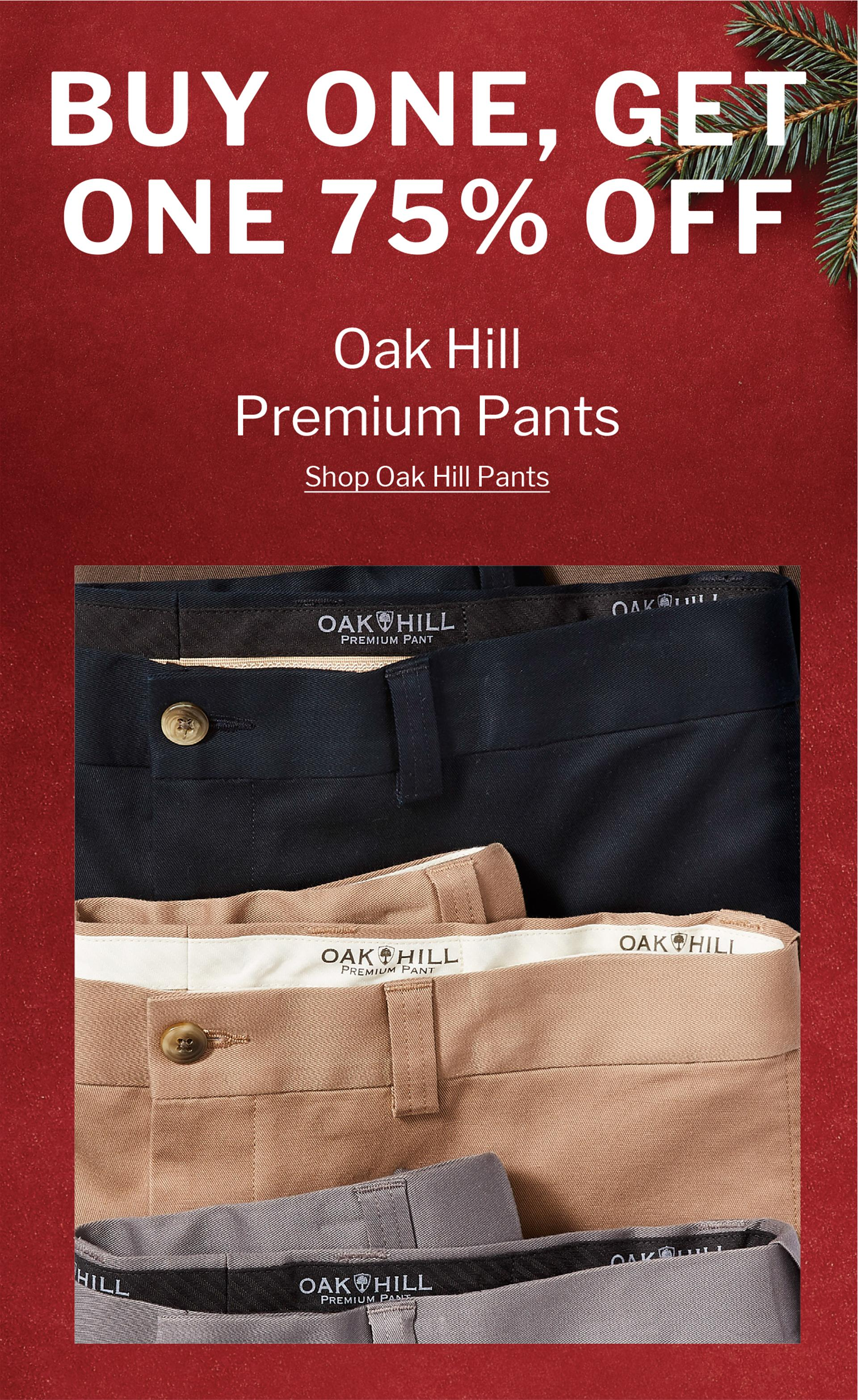 BUY ONE, GET ONE 75% OFF | OAK HILL PREMIUM PANTS