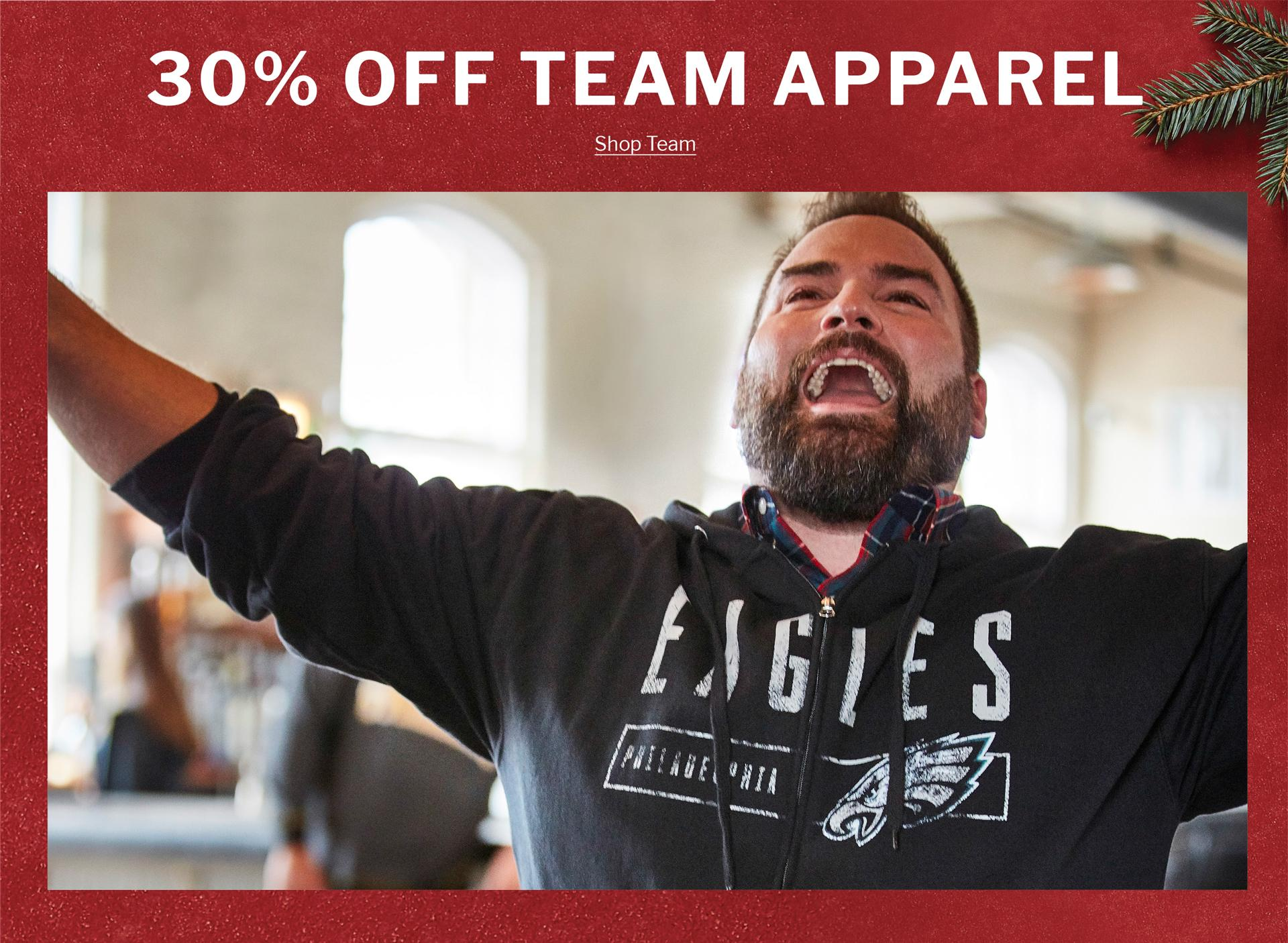 30% OFF TEAM APPAREL