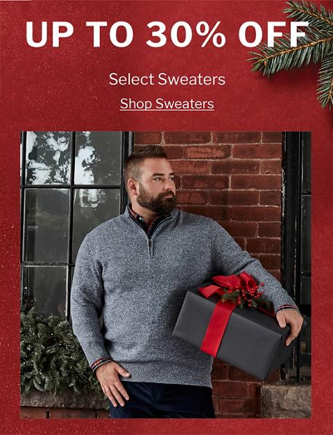 UP TO 30% OFF | SELECT SWEATERS