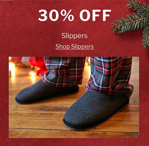30% OFF SLIPPERS