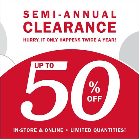 SEMI SALE | SAVE UP TO 50%