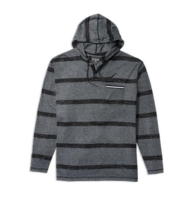 PX Clothing Yarn Dyed Jersey Stripe Pullover Hoodie