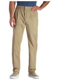 Creekwood Elastic-Waist Pleated Pants