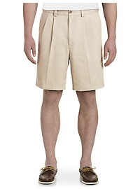Harbor Bay Waist-Relaxer Pleated Shorts