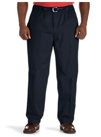 Harbor Bay Elastic-Waist Twill Pants