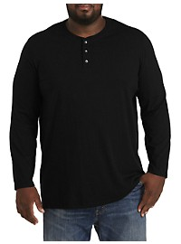 Harbor Bay Wicking Long-Sleeve Henley Shirt