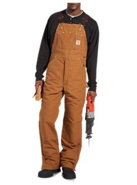Carhartt Quilt-Lined, Zip-To-Thigh Duck Bib Overalls