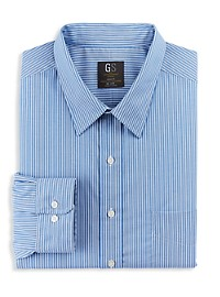 Gold Series Wrinkle-Free Cool & Dry Stripe Dress Shirt