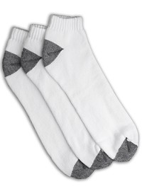 Harbor Bay 3-pk Continuous Comfort Low Cut Socks