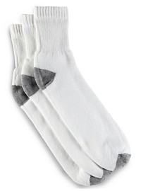 Harbor Bay Continuous Comfort 3-pk Quarter Crew Socks