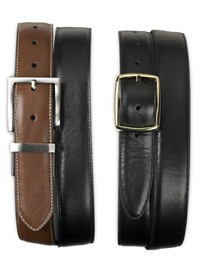 Harbor Bay 2-for-1 Reversible Leather Belts
