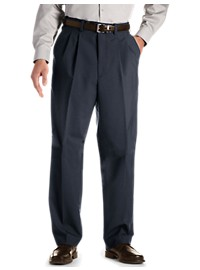 Gold Series Waist-Relaxer Hemmed Pleated Suit Pants