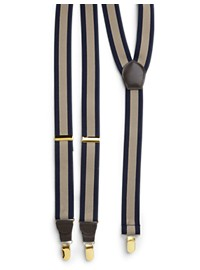 Harbor Bay Stripe Y-Back Suspenders Boxed Set