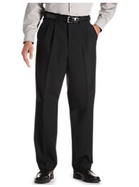 Gold Series Waist-Relaxer Unfinished Pleated Suit Pants