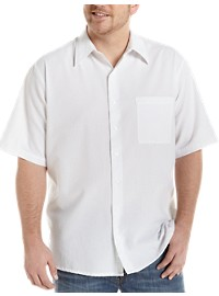 Harbor Bay Moisture-Wicking Seersucker Sport Shirt