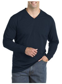 Harbor Bay Wicking Jersey Long-Sleeve V-Neck Tee