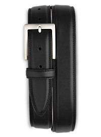 Harbor Bay Double-Stitch Leather Belt