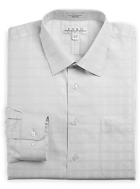 Enro Non-Iron Oxford Textural Solid Dress Shirt