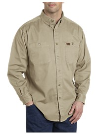 Riggs Workwear by Wrangler Long-Sleeve Twill Work Shirt