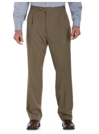 Sansabelt Sharkskin Pleated Pants