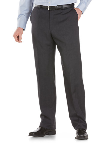 """<p>Innovative """"Tekfit"""" technology enables the waistband to expand up to two inches, for all-day comfort and a flattering fit. Take you effortlessly from office to a night on the town.</p><p>&#8226; 100% wool<br/>&#8226; Tekfit technology expands waistband up to 2""""<br/>&#8226; Flat-front style<br/>&#8226; Extended button-front closure<br/>&#8226; Multiple pockets<br/>&#8226; Lined to knee<br/>&#8226; Hemmed<br/>&#8226; Dry clean; imported</p><p><b>Ships directly from manufacturer. See additional tab for more info.</b></p>"""