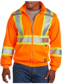 Work King Hi-Visibility Zip-Front Fleece Hoodie