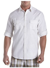 True Nation Washed Solid Sport Shirt