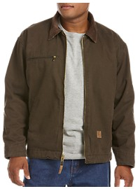 Berne Fleece-Lined Original Washed Gasoline Jacket
