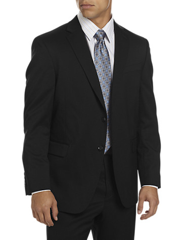 """<p>A classic style, this wool-blend suit jacket is made with Lycra and comfort enhanced features to move with you, not against you. Pair it with matching suit pants or jeans for a dress casual look.</p><p>&#8226; 52% wool/47% polyester/1% lycra; 100% polyester lining<br/>&#8226; Notched lapel<br/>&#8226; Welt chest and flap pockets<br/>&#8226; Interior pockets<br/>&#8226; Center back vent<br/>&#8226; Fully lined<br/>&#8226; Dry clean; imported</p><p><b>(Matching suit pleated pants, <u><a href=""""/mens-big-and-tall-store/catalog/productDetail.jsp?prodId=99759"""">#99759</a></u>, Matching suit flat-front pants, <u><a href=""""/mens-big-and-tall-store/catalog/productDetail.jsp?prodId=99758"""">#99758</a></u>, Executive suit coat, <u><a href=""""/mens-big-and-tall-store/catalog/productDetail.jsp?prodId=99757"""">#99757</a></u>)</b></p> <p><b> Ships directly from manufacturer. See additional tab for more info.</b></p><p>To determine the correct length for you, refer to your height in the table below:<br><b"""