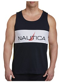 Nautica Logo Tank with Mesh Detail