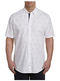 Nautica Sailboat Print Sport Shirt